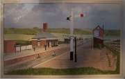 A picture of Ogbourne Station painted c.1930